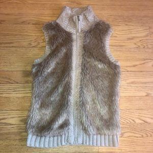 Fenn Wright Manson Jackets & Coats - Taupe faux fur sweater vest